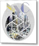 Trendy Design New York City Geometric Mix No 4 Metal Print by Melanie Viola