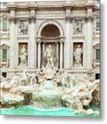 Trevi Fountain, Fontana Di Trevi, After The Restoration Of 2015  Metal Print