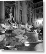 Trevi Fountain Night 2 Metal Print