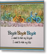 Tri Bike Bicycle Races Metal Print