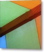 Tri Color Minimal  Metal Print