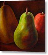 Tri Pear Metal Print by Shannon Grissom