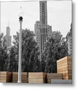 Tri Towers Metal Print