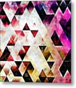 Triangles Autumn Metal Print