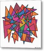 Triangles In Motion Metal Print by ME Kozdron