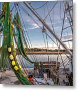 Triangles In The Harbor Metal Print