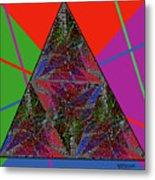 Triangular Thoughts Metal Print