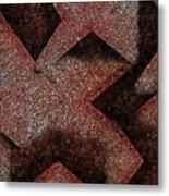 Triangulated Circles Metal Print