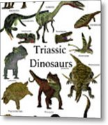 Triassic Dinosaurs Metal Print