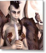 Tribal Elf Metal Print