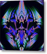 Tribal Fractal Metal Print