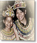 Tribal Girls Metal Print