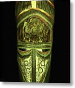 Tribal Mask Metal Print by David Dehner