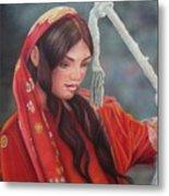 Tribal Woman Metal Print