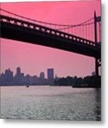 Triborough Bridge From Astoria Park Metal Print