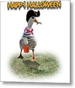 Trick Or Treat For Cap'n Duck Metal Print