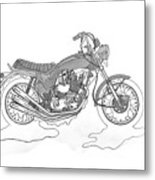 Trickley Triumph X75 Metal Print