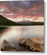 Trillium Lake Sunset Metal Print