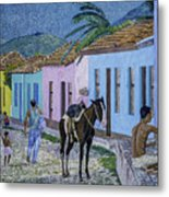 Trinidad Lifestyle 28x22in Oil On Canvas  Metal Print