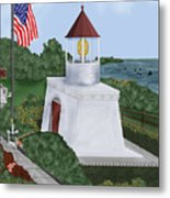 Trinidad Memorial Lighthouse Metal Print