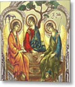 Trinity After Rubliov Metal Print by Iosif Ioan Chezan