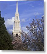 Trinity Church In Spring Metal Print