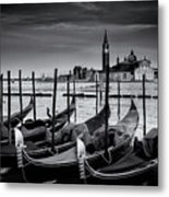 Trio Of Gondolas Metal Print