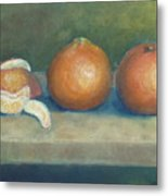 Trio Of Tangerines Metal Print