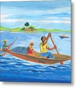 Trip To Lake Kivu In Congo Metal Print