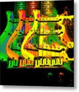 Triple Pickguards Metal Print