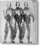 Triple Robocop Metal Print
