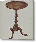 Tripod Table Metal Print