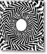 Trippy Optical Illusion Swirly Maze  Metal Print