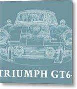 Triumph Gt6 Plus Metal Print