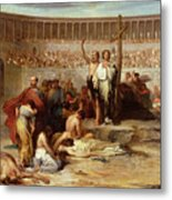 Triumph Of Faith    Christian Martyrs In The Time Of Nero Metal Print