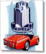 Triumph Tr-3 Red Metal Print
