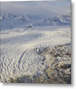 Triumvirate Glacier In Winter Light Metal Print