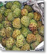 Troical Green Fruit 1 Metal Print