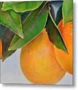 Trois Oranges Metal Print