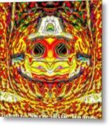 Bizzarre Pumpkin Head Metal Print