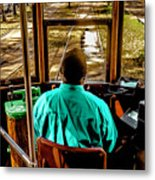 Trolley Driver In New Orleans Metal Print