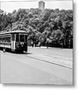 Trolley With Cloisters Metal Print