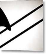 Trombone Silhouette Isolated Metal Print