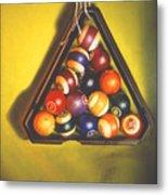 Billiard Balls Tromp'ole Metal Print