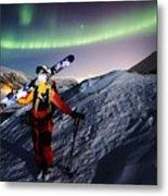 Tromso Winter Skiing Metal Print