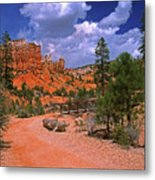 Tropic Canyon Bridge In Bryce Canyon Np Utah Metal Print