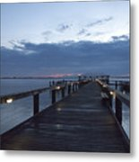 Tropic Twilight On The Indian River Metal Print