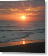 Tropical Bali Sunset Metal Print