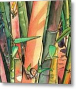 Tropical Bamboo Metal Print