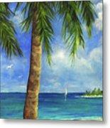 Tropical Beach One Metal Print